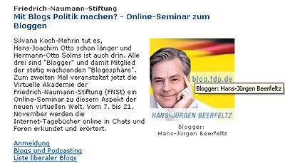 Blogger bei der FDP