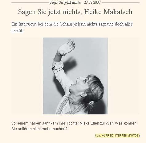 Heike Makatsch - Süddeutsche Zeitung